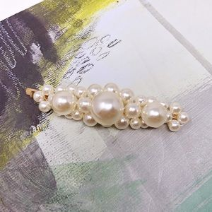 Faux Pearl-Embellished Hair Pin